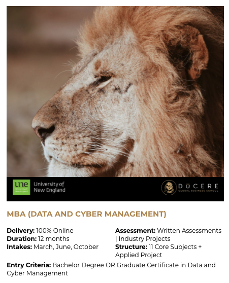 MBA (DATA AND CYBER MANAGEMENT) by Ducer...